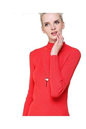 La primavera e maglione collo alto rosso La metà delle donne di autunno , red , free