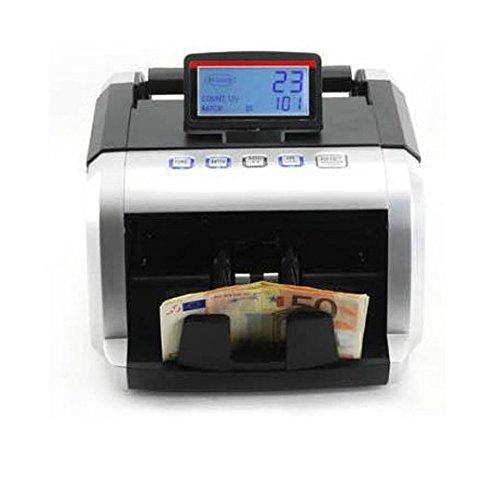 Contadora de billetes con detector de billetes falsos Yatek Eco-Note +, funciona con los billetes nuevos de 50€