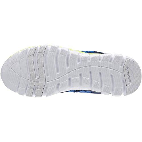Reebok Sublite Xt Cushion, Scarpe da Corsa Bambino Blu / Giallo (Collegiate Navy/Blue Sport/Solar Yellow)