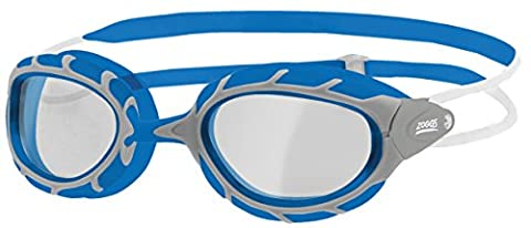 Zoggs Unisex Predator Swimming Goggles with Clear Anti-fog Lenses in Blue, Adjustable One Size
