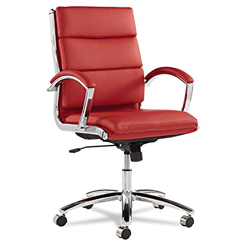 neratoli-mid-back-swivel-tilt-chair-red-soft-touch-leather-chrome-frame-sold-as-1-each