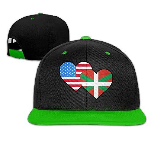 Carolina-golf-und Country Club (Basque Country Heart Flag-1 Hip Hop Flat Bill napback Adjustable Baseball)