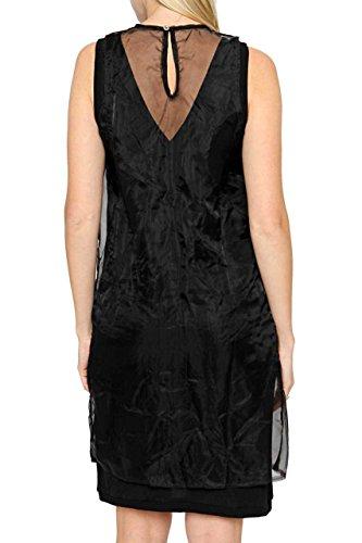 Diesel Damen Kleid F Dresses 00S953 0BADA D-SUNSET ABITO, Farbe: Schwarz Schwarz
