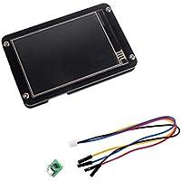 Nextion Enhanced Display Pantalla táctil resistiva HMI Módulo LCD Panel TFT + Estuche de acrílico negro para Arduino Raspberry Pi