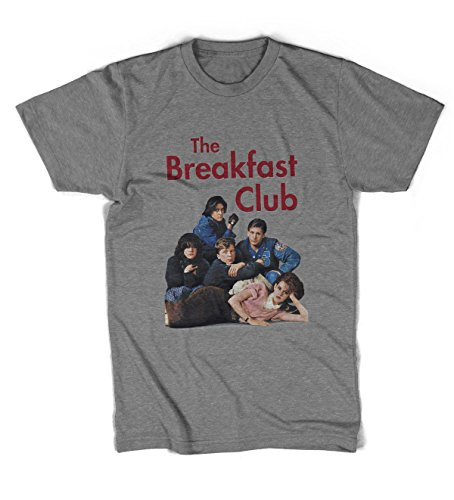 Revolver Tees The Breakfast Club Unisex T-Shirt All Sizes (Grey Marl, M)