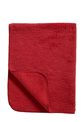 Meyco 1231011 Classic Uni Babydecke, 75 x 100 cm, rot (Baumwolle Rot Classic)