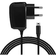 subtel® Cargador - 1,1m (1A / 1000mA) Compatible con Nintendo DSi/DSi XL / 2DS / 2DS XL / 3DS / 3DS XL (5V / Nintendo System Connector) Cable de Carga Negro
