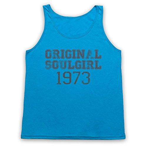 Soul Girl 1973 Northern Soul Tank-Top Weste Neon Blau