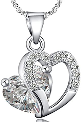 SaySure - 925 Sterling Silver White Purple Heart