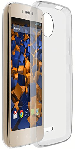 mumbi UltraSlim Hülle für Lenovo Moto C Plus Schutzhülle transparent (Ultra Slim - 0.70 mm)