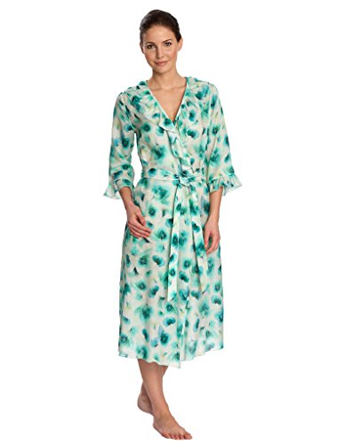 Feraud 3171235-10472 Women's Aqua Blue Floral Robe Loungewear Bath Dressing Gown 40 (Robe Floral Blue)