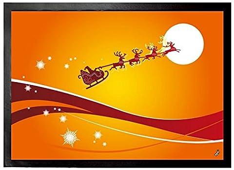 1art1 95105 Weihnachten - Der Weihnachtsmann Und Sein Rentier Schlitten