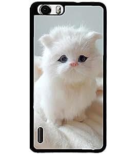 ColourCraft Cute Cat Design Back Case Cover for HUAWEI HONOR 6