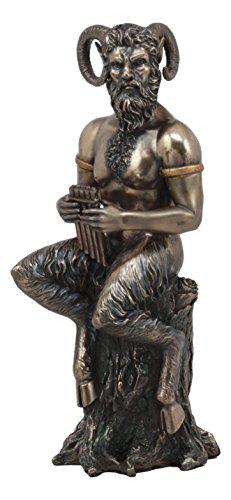 Ebros Griechische Gott Pfanne Statue 24,8cm Hohen Gottheit der Wild Pfanne die Flöte Spielen Figur