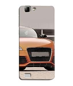 PrintVisa Designer Back Case Cover for VivoY27L (yellow shining front view car)