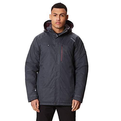 Regatta Herren Highside III Waterproof and Breathable Thermoguard Insulated Hooded Jacke, Grau, m Ski-insulated-jacken-jacken