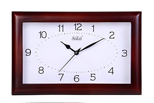 Safal Wooden Wall Clock (20.32cm x 30.48cm, Style No SQ 4003)