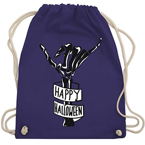lloween Skelett Hand - Unisize - Lila - WM110 - Turnbeutel & Gym Bag ()