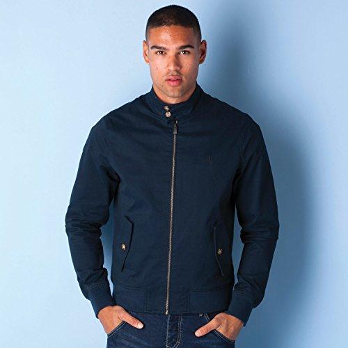 original-penguin-uomo-harrington-logo-zip-jacket-blu-x-large