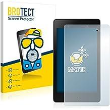 2x BROTECT Matte Protector Pantalla para Google Nexus 7 Tablet 2 (2013) Protector Mate, Película Antireflejos