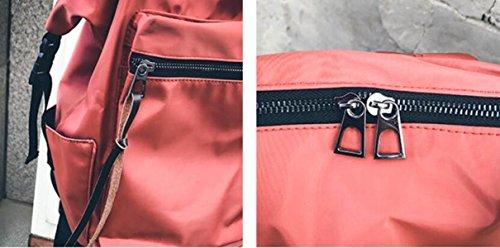 FZHLY Zaino Da Viaggio Stile Coreano Personalità Borsa A Tracolla Ms. Grande Capacità,LightBlue Black