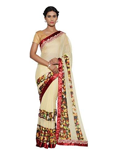 Mahotsav Women's Faux Chiffon Velvet , Net Saree ( 12025 )  available at amazon for Rs.2499