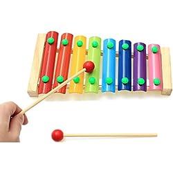 ColorMixs®8 Nota xilófono juguetes divertidos, golpe de la mano del piano de juguetes educativos para niños