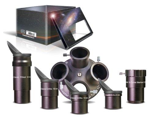 Q-Turret Okularsatz inkl. 4 Okularen, Barlowlinse und Okularrevolver - viel besser als jeder Okularkoffer - designed in Deutschland nach Zeiss-Design