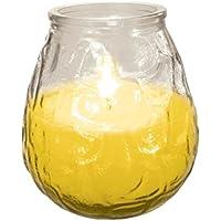 Juego de 2velas de citronela en tarro de cristal para repeler insectos