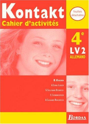 Kontakt : 4e. Cahiers d'activités