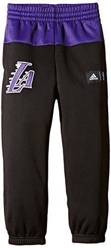 adidas Kinder Hose Basketball LA Lakers, Schwarz/Lila, 164, AA7793
