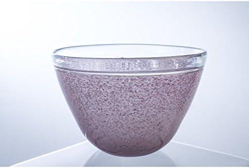 INNA Glas Lot Lot Lot 2 x Coupe Ronde Gloria, Rose, fabriquée à la Main, 14,5 cm, Ø 22 cm - 2 pcs Coupelle apéritif/Petit Pot de Fleurs 15bb5d