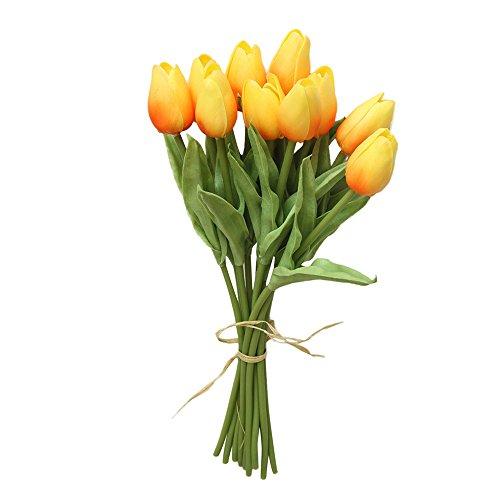 Alaso Fleurs Artificielles,Fausse Fleur, 10pcs Bouquet de Tulipes Fleur de Simulation pour Decoration Maison Jardin Fête Mariage Hydrangea DIY Floral Arrangement