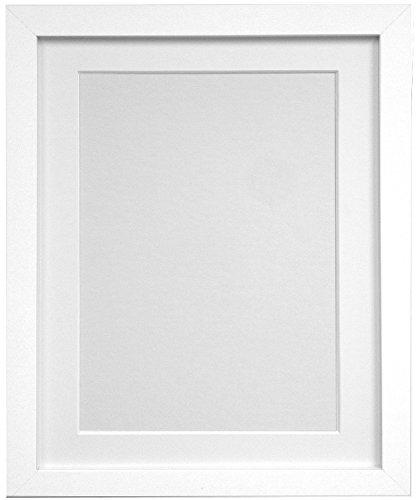 Frames By Post Weiß Foto Bild Poster Rahmen mit weißem Passepartout, holz, 25mm Frame, 36