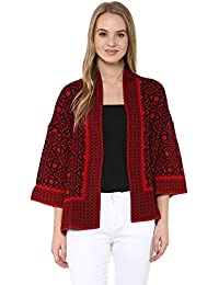 Cayman Red Knitted Shrug