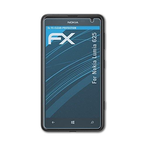 kompatibel mit Nokia Lumia 625 Folie, ultraklare FX Displayschutzfolie (3X) ()