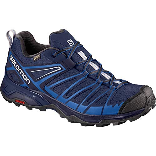 Salomon X Ultra 3 Prime GTX, Stivali da Escursionismo Uomo, Blu (Medieval Nautical Blue/Alloy 000), 41 1/3 EU