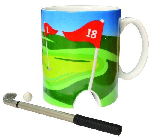 LONGRIDGE Golftasse und Mini-Putter, Weiß