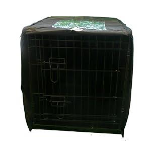 Ellie-Bo Housse imperméable Cage pour chien Noir Taille L 91,4 cm