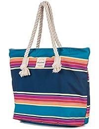 RIP CURL Tote Yamba Beach Badetasche//Strandtasche blau//weiß//beige Damen NEU