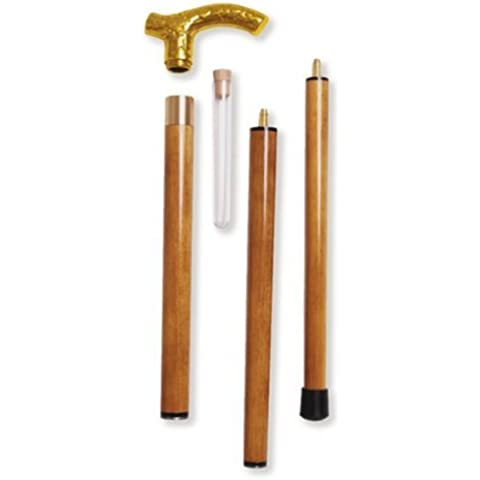 Fritz Brass Branch Design 3pc With Flask In Gift Box - Brown Stain by Alex Orthopedic Inc - Brown Flask