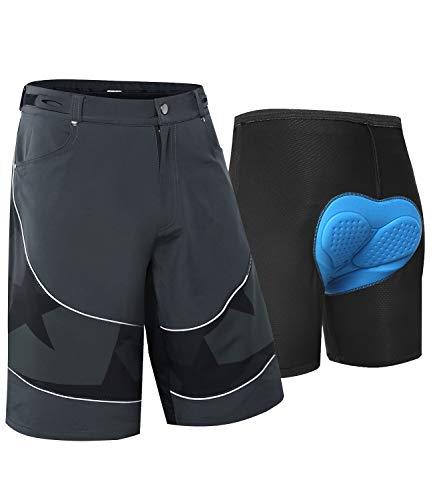 Pantalones cortos de ciclista masculina ropa unisex de ciclo al aire libre de secado r/ápido pantalones cortos de bicicleta de bicicletas Deportes del coj/ín del amortiguador de la ropa interior