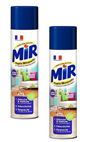 Mir–Limpiador Alfombras Moquetas Spray espuma–600ml–juego