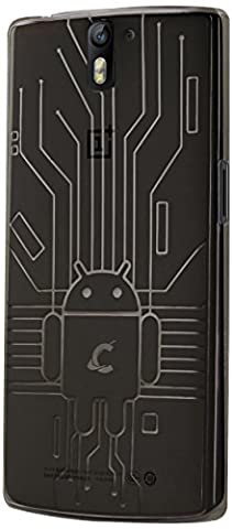 Cruzerlite Bugdroid Circuit TPU Case for the OnePlus One - Retail Packaging - Smoke