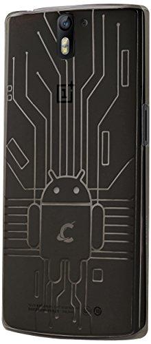 Cruzerlite Bugdroid Circuit TPU Case for the OnePlus One - Retail Packaging - Smoke