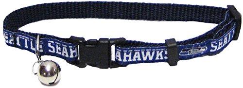 Pets First Katzen-Halsband.–NFL mit Halsband, NFL-Premium-Katzen-Halsband. (robust, strapazierfähig, langlebig und verstellbar, Fußball-Kragen Einheitsgröße 32Katzen–alle NFL Team (Bandana Nfl Pet)
