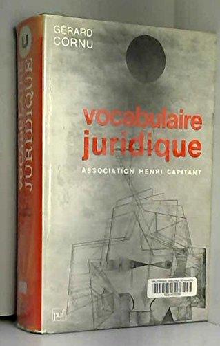 Vocabulaire juridique par Association Henri Capitant
