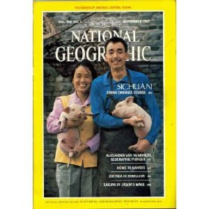 National Geographic Magazin (VOL. 168, NO. 3, NATIONAL GEOGRAPHIC MAGAZINE, SEPTEMBER 1985: SICHUAN, CHINA CHANGES COURSE; ALEXANDER VON HUMBOLDT, GEOGRAPHIC PIONEER; HOME TO KANSAS; ERITREA IN REBELLION; SAILING IN JASON'S WAKE)