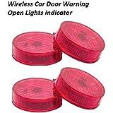 DESTELLO (2pairs 4pcs) Waterproof 5 LED Wireless Car Door Warning Open Lights Indicator Decor Interior Flash Magnetic…