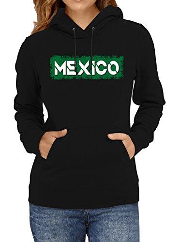 Mexiko Weltmeisterschaft 2018#29 Premium Hoodie Fan Trikot Fußball WM Nationalmannschaft Frauen Kapuzenpullover, Farbe:Schwarz;Größe:XL